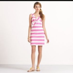 Kate Spade Pink & Off-White Striped Dress-Size 00